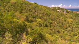 HD2008-8-15-43 StThomas gondola ride above trees Stock Video Footage
