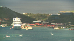 HD2008-8-15-53 StThomas cruise ship Stock Video Footage