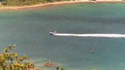 HD2008-8-15-57 StThomas motorboat ocean Stock Video Footage