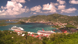 HD2008-8-15-61 StThomas harbor Stock Video Footage