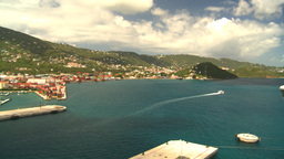 HD2008-8-16-2 StThomas harbor pan Footage