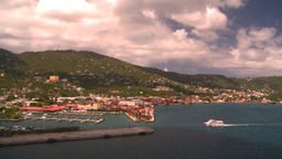 HD2008-8-16-6 StThomas harbor Stock Video Footage