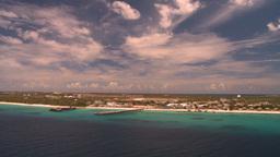 HD2008-8-16-8 Turks ocean land spit Stock Video Footage