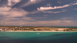 HD2008-8-16-10 Turks ocean land spit radar Stock Video Footage