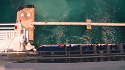 HD2008-8-16-13 Turks ocean blue ship look down Stock Video Footage