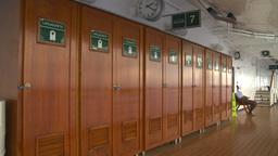 HD2008-8-16-27 promenade lockers Stock Video Footage