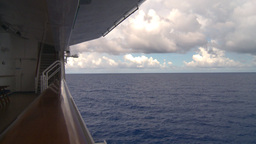 HD2008-8-16-29 ship and ocean from deck Footage