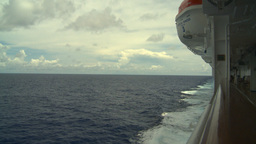 HD2008-8-16-31 Ships Wake From Deck stock footage