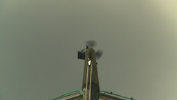HD2008-8-17-3 ship weather vane Stock Video Footage