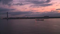 HD2008-8-17-19 dawn NYC harbor Stock Video Footage