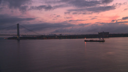 HD2008-8-17-19 dawn NYC harbor Stock Video Footage