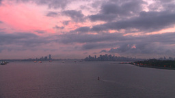 HD2008-8-17-23 dawn NYC harbor Stock Video Footage