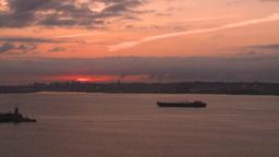 HD2008-8-17-31 dawn NYC harbor Stock Video Footage