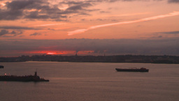 HD2008-8-17-31 dawn NYC harbor Stock Video Footage