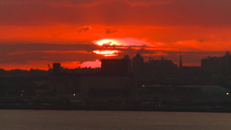 HD2008-8-17-33 sunrise NYC harbor Footage