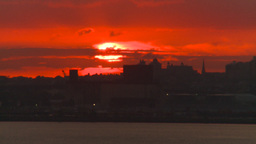 HD2008-8-17-33 sunrise NYC harbor Stock Video Footage