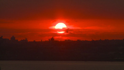 HD2008-8-17-35 sunrise NYC harbor Footage