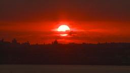 HD2008-8-17-35 sunrise NYC harbor Stock Video Footage