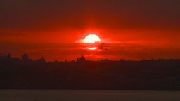 HD2008-8-17-35 sunrise NYC harbor Stock Video Footage