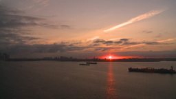 HD2008-8-17-37 sunrise NYC harbor Stock Video Footage