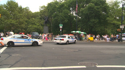 HD2008-8-17-41b NYC many police cars Footage