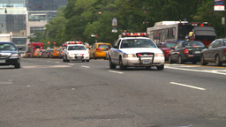 HD2008-8-17-43b NYC many police cars Footage