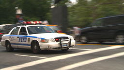 HD2008-8-17-43b NYC many police cars Stock Video Footage