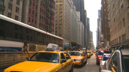 HD2008-8-17-45 NYC txi cabs Stock Video Footage