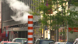 HD2008-8-17-49 NYC traffic steam pipe Footage