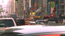 HD2008-8-17-53 NYC traffic Manhattan Stock Video Footage