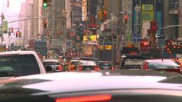 HD2008-8-17-53 NYC traffic Manhattan Stock Video Footage