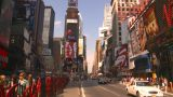 HD2008-8-17-55 NYC Traffic Times Square stock footage