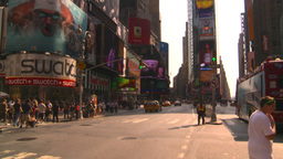HD2008-8-17-57 NYC traffic times square Stock Video Footage