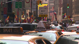 HD2008-8-18-1 NYC traffic Stock Video Footage