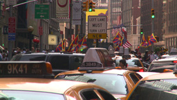 HD2008-8-18-1 NYC traffic Stock Video Footage