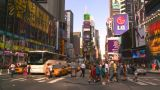 HD2008-8-18-3 TL NYC Times Square stock footage