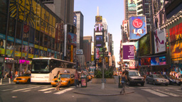 HD2008-8-18-3 TL NYC times square Stock Video Footage