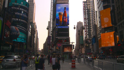 HD2008-8-18-7 NYC times square Stock Video Footage