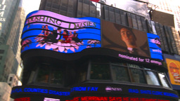 HD2008-8-18-9 NYC times square spin tickertape ads Stock Video Footage