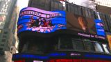 HD2008-8-18-9 NYC Times Square Spin Tickertape Ads stock footage