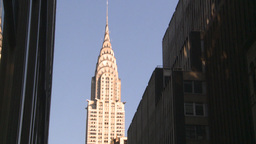 HD2008-8-18-16 NYC chrysler bdg 2 shot Stock Video Footage