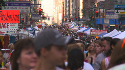 HD2008-8-18-20 NYC lots of people Stock Video Footage