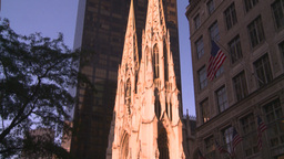 HD2008-8-18-28 NYC old church tilt down Stock Video Footage