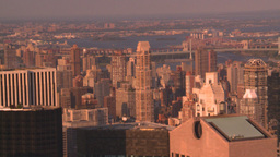 HD2008-8-18-30 NYC from 30 rock Stock Video Footage