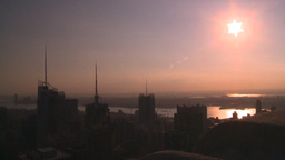 HD2008-8-18-36 NYC from 30 rock low sun Stock Video Footage