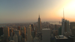 HD2008-8-18-38 NYC from 30 rock skyscrapers pan Stock Video Footage
