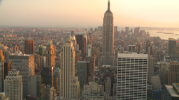 HD2008-8-18-40 NYC Empire state from 30 rock Stock Video Footage