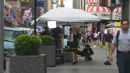 HD2008-8-19-1 TV news crew Times square Stock Video Footage