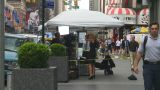 HD2008-8-19-1 TV News Crew Times Square stock footage