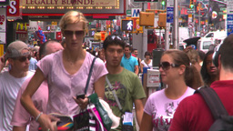 HD2008-8-19-5 TL people Times square Stock Video Footage